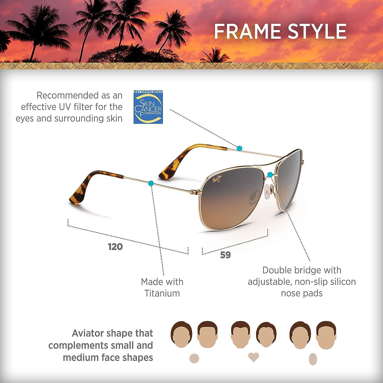 a8eb9e8d89 Mau-Jim Aviator Golden Sunglasses (HS247-16)  Amazon.in  Clothing    Accessories