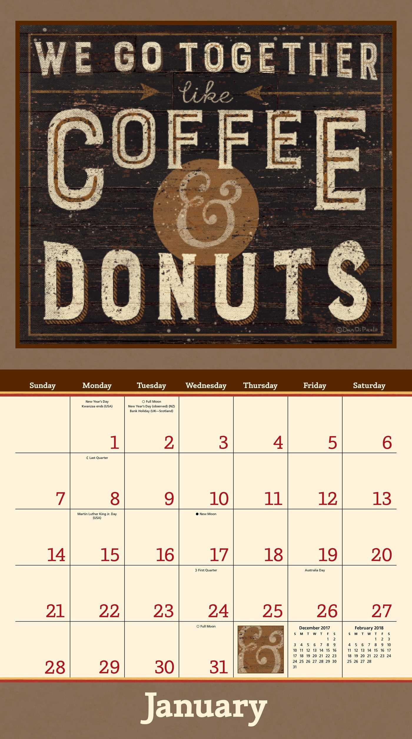 Coffee 2018 Deluxe Wall Calendar: Dan DiPaolo: 9781449482381: Amazon.com:  Books