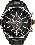 Timex - T2N158AU - SL Series - Quartz Analogique - Montre Homme - Chronographe - Bracelet en Cuir Noir