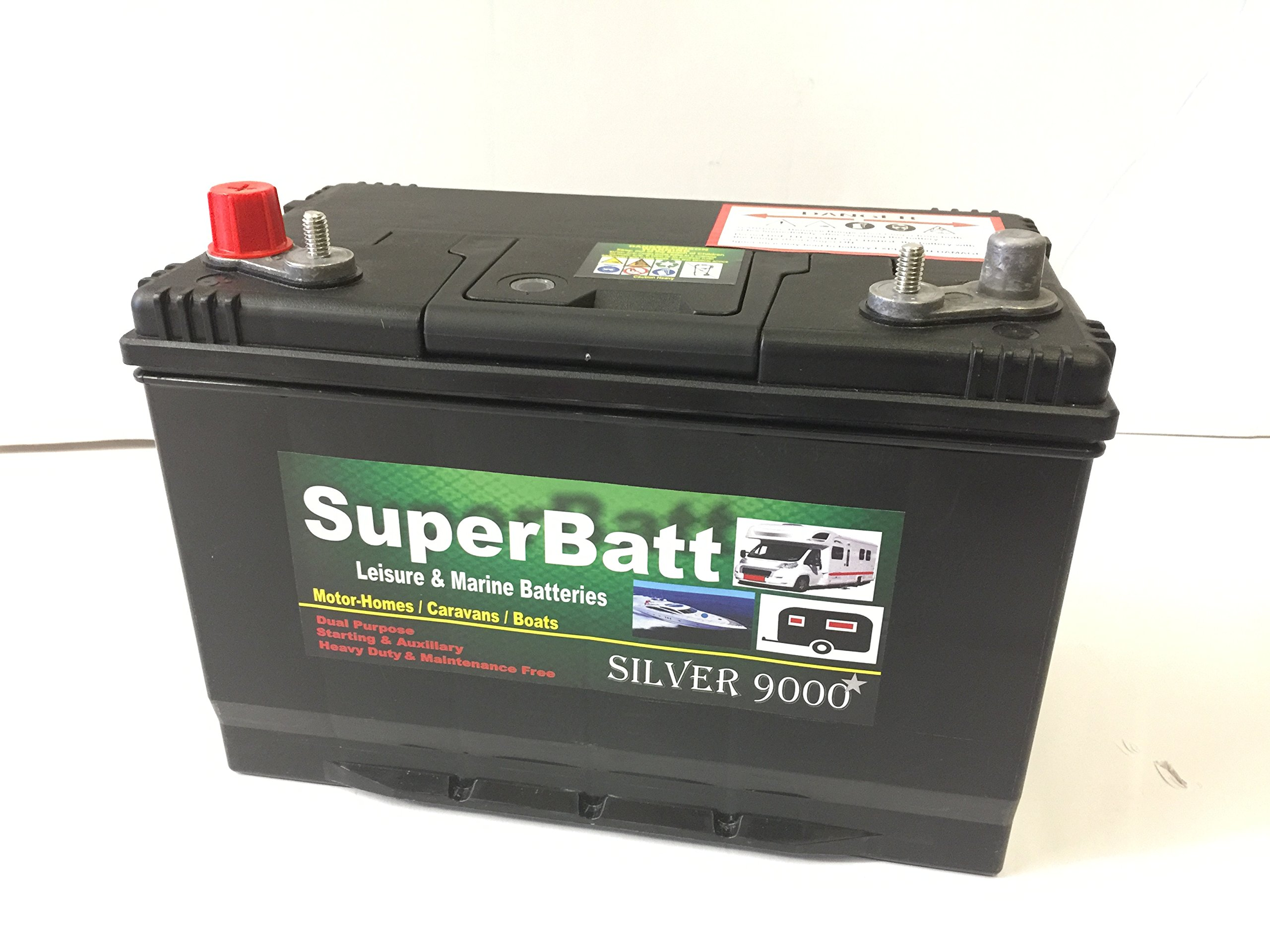 12V 110AH SB DT110 Super Heavy Duty Ultra Deep Cycle Leisure Marine Battery - Dual terminals/Twin Posts