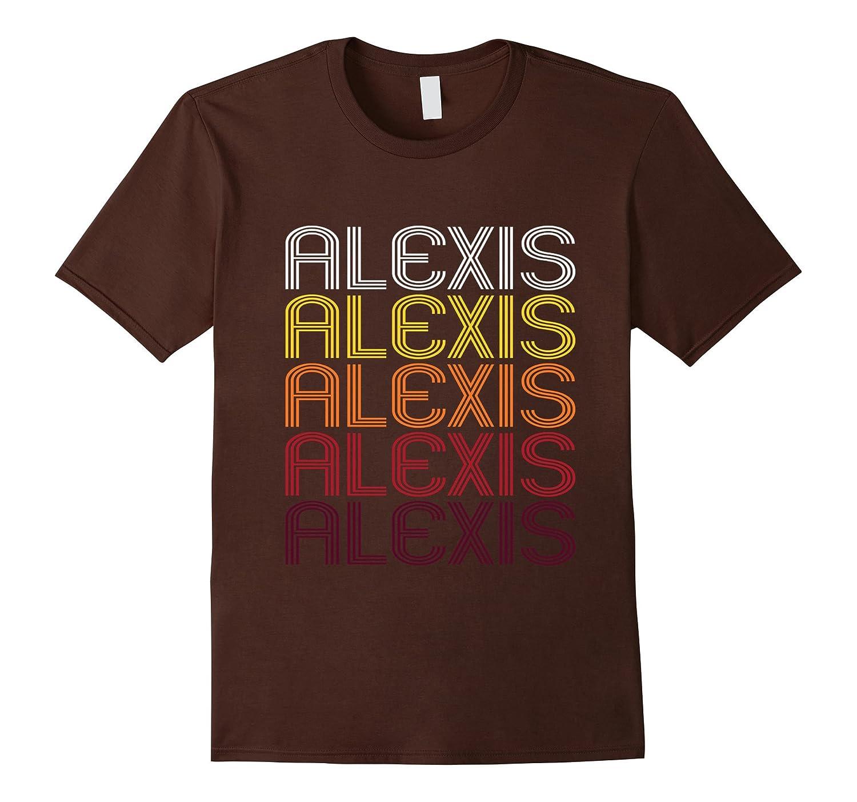 Alexis Retro Wordmark Pattern - Vintage Style T-shirt-CL