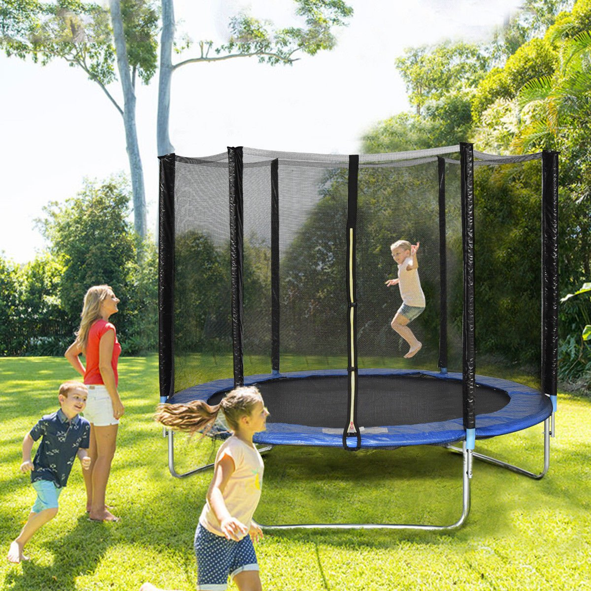 Giantex Trampoline Combo Bounce Jump Safety Enclosure Net W/Spring Pad Ladder (8 FT) by Giantex (Image #2)