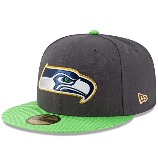 c91c23a7d84 New Era NFL Hat Seattle Seahawks on Field Gold Collection Football Black  with Gold Cap (