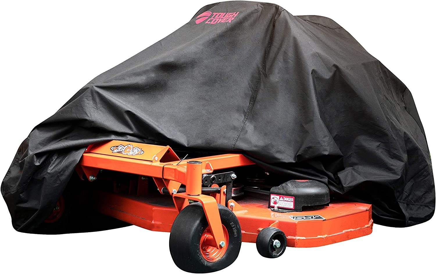 ToughCover Premium Zero-Turn Mower Cover. Heavy Duty 600D Marine Grade Fabric. Universal Fit. Weather, UV & Mold Protection.