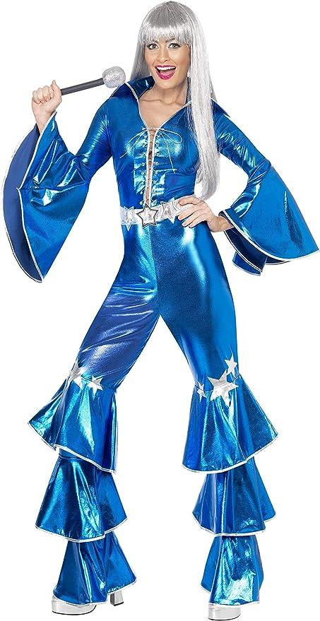 include tuta allacciata Smiffys Costume Dancing Dream anni 70 blu