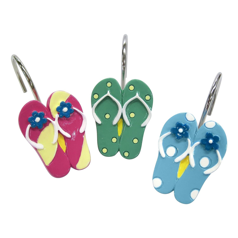 Flip Flops Shower Curtain Hooks