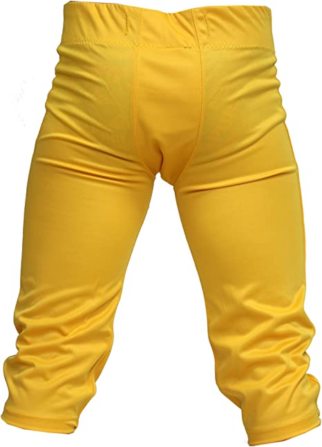 Propak Football Game Pants Navy Blue W// Carolina Blue /& Yellow Trim Adult Large
