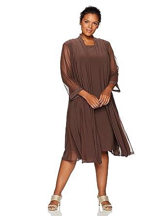 ac0cbd29fa80b R M Richards Women s Size Glitter Dress with Duster Jacket Plus at ...
