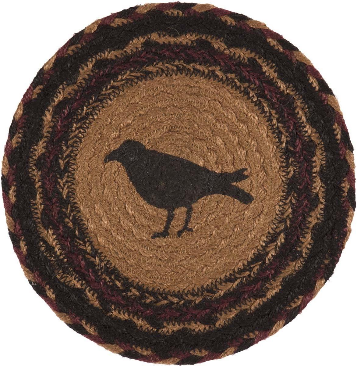 VHC Brands Primitive Tabletop & Kitchen - Heritage Farms Tan Crow Jute Trivet