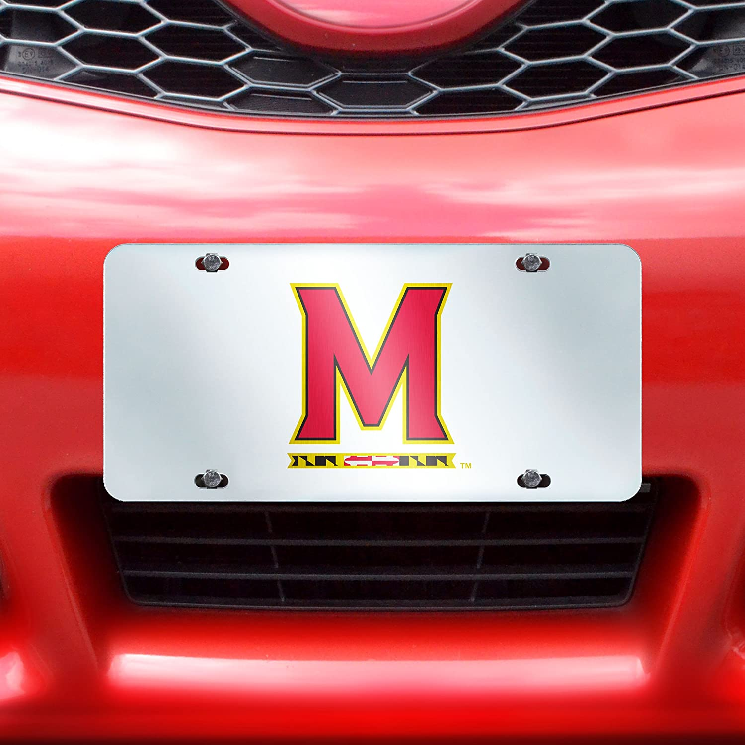 Inlaid FANMATS NCAA University of Maryland Terrapins Plastic License Plate