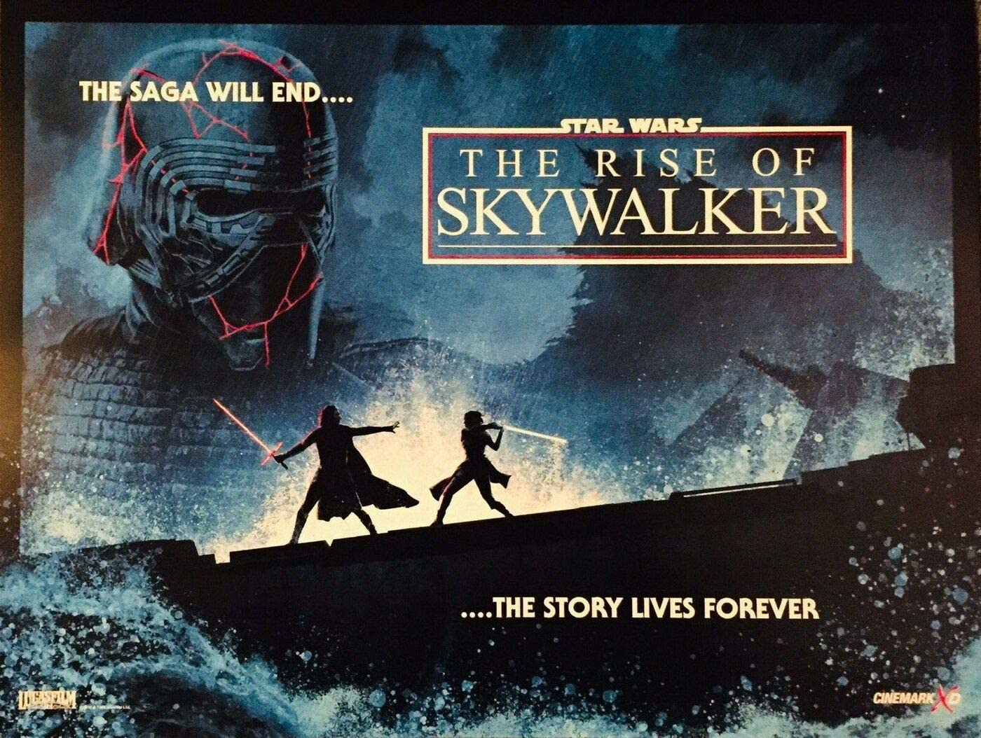 Star Wars The Rise Of Skywalker 13 25 X17 5 Original Promo Movie Poster Cinemark 2019 At Amazon S Entertainment Collectibles Store