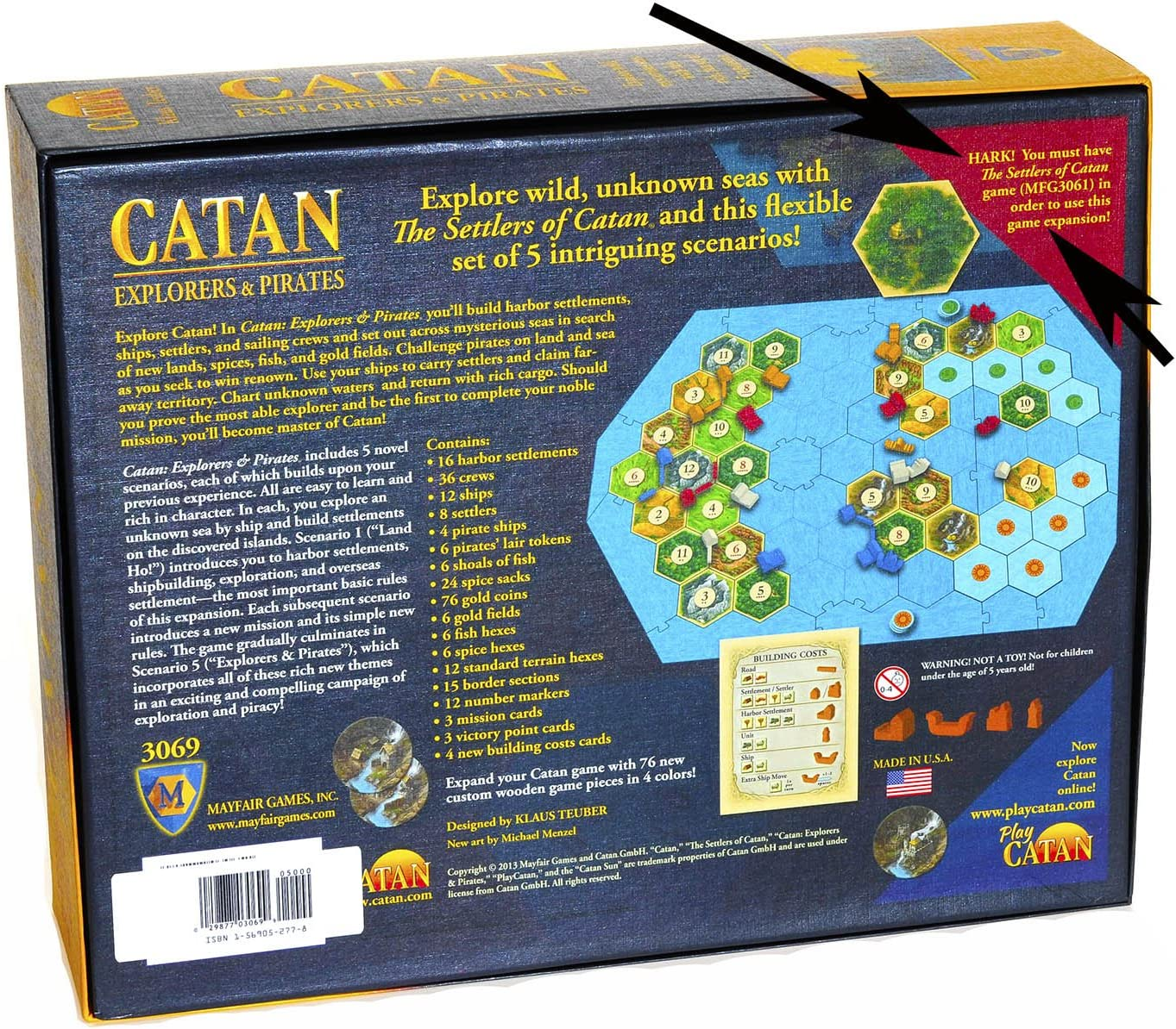 Catan Explorers And Pirates - Juego de Tablero (Mayfair Games MFG3069) [Importado de Inglaterra]: Amazon.es: Juguetes y juegos