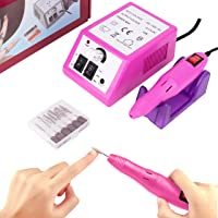 Professional Nail Drill Electric Nail File and Buffers 20000RPM Nail Manicure Pedicure Set Acrliyic Nail Kit Drill for…