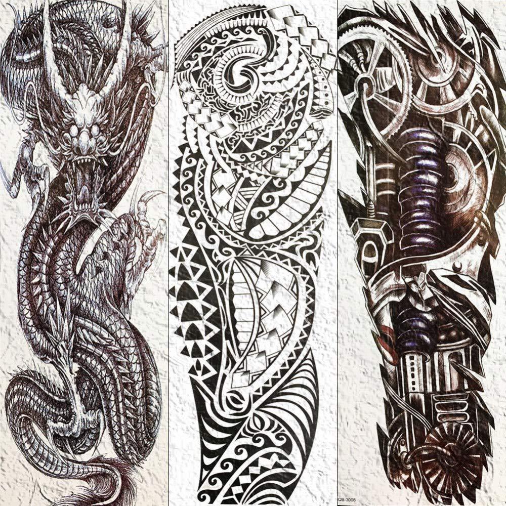 Tatuaje Falso Tatuaje Mecánico Completo Brazo Robótico Tatuaje ...