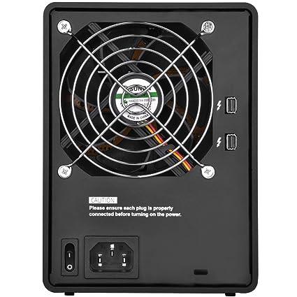 """SilverStone SST-TS433-TB - Carcasa para disco duro externo Thunderbolt 2 con almacenamiento Raid de 4 bahías, Acepta HDD o SSD de 2,5"""" o 3,5"""", negro"""
