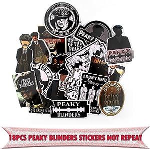 18pcs Peaky Blinders Movie Waterproof Removable Sticker DIY Scrapbooking Album Laptop Skateboard Motorcycle Decoration