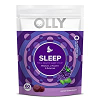 OLLY Sleep Melatonin Gummy, All Natural Flavor and Colors with L Theanine, Chamomile...