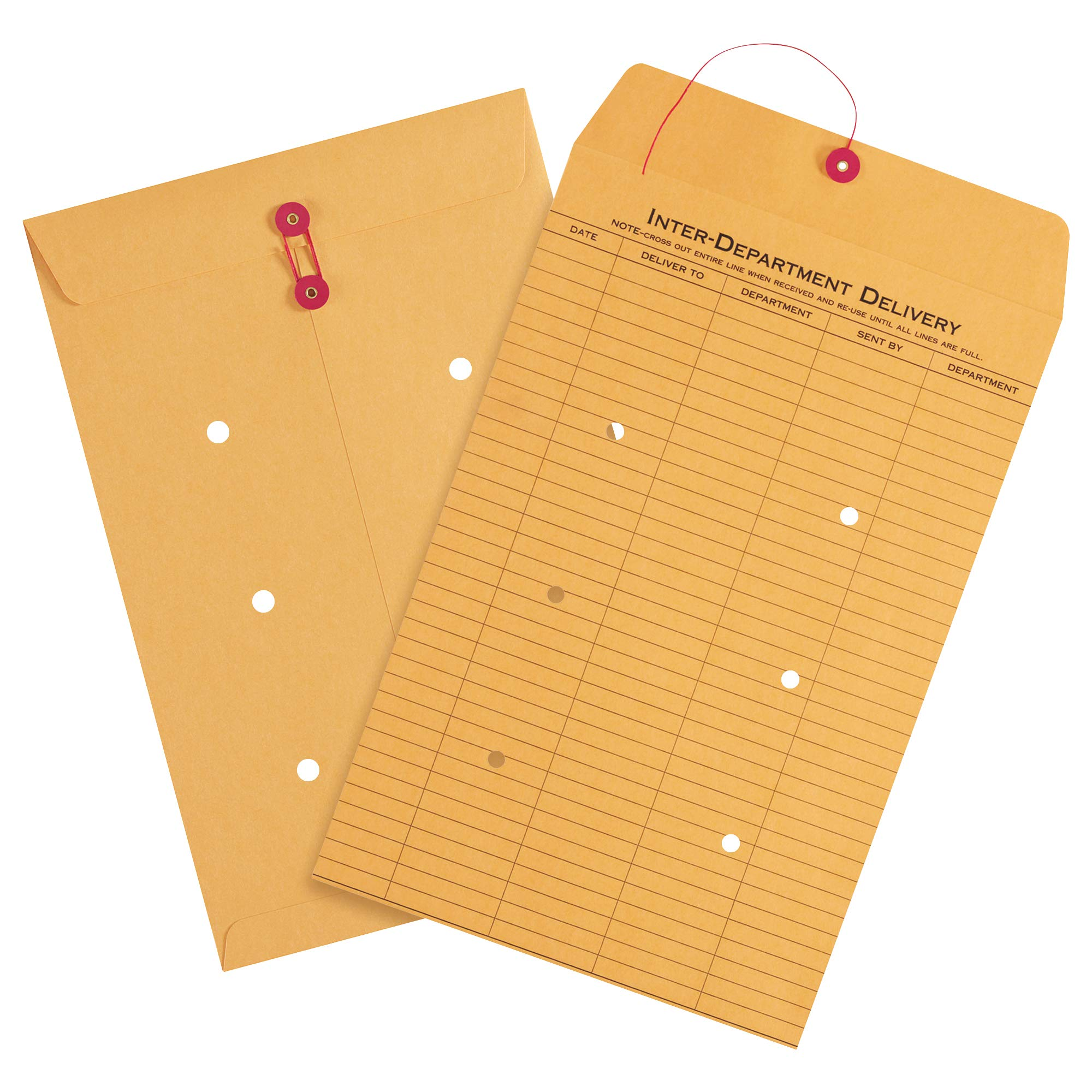 Inter-Department Envelopes, 10'' x 15'', Kraft, 100/Case by Choice Shipping Supplies