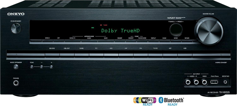 Onkyo TX-NR525 5.2-Channel Network Audio/Video Receiver (Black)