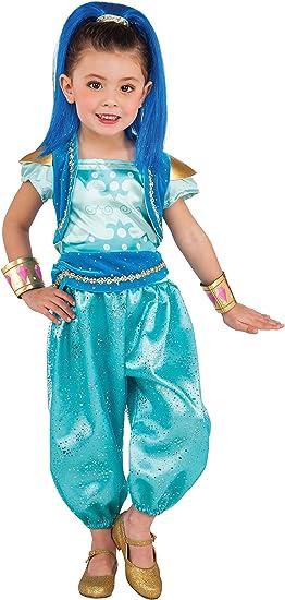 Shimmer & Shine - Disfraz Deluxe turquesa para niña, infantil S (3 ...
