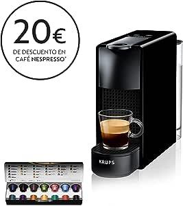 Krups Nespresso XN1108 Essenza Mini Cafetera de cápsulas, 1260 ...