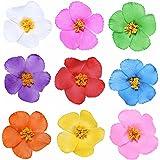 "Youbami 3.5"" Hawaiian Hibiscus Foam Flower Hair Clips For Luau Party Favor Event Decoration Set Of 9 Pcs"
