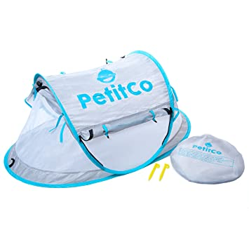 Portable Baby Tent By PetitCo Foldable Compact Toddler Travel Tent With 2 Pegs And Carrying  sc 1 st  Amazon.com & Amazon.com : Portable Baby Tent By PetitCo: Foldable Compact Toddler ...
