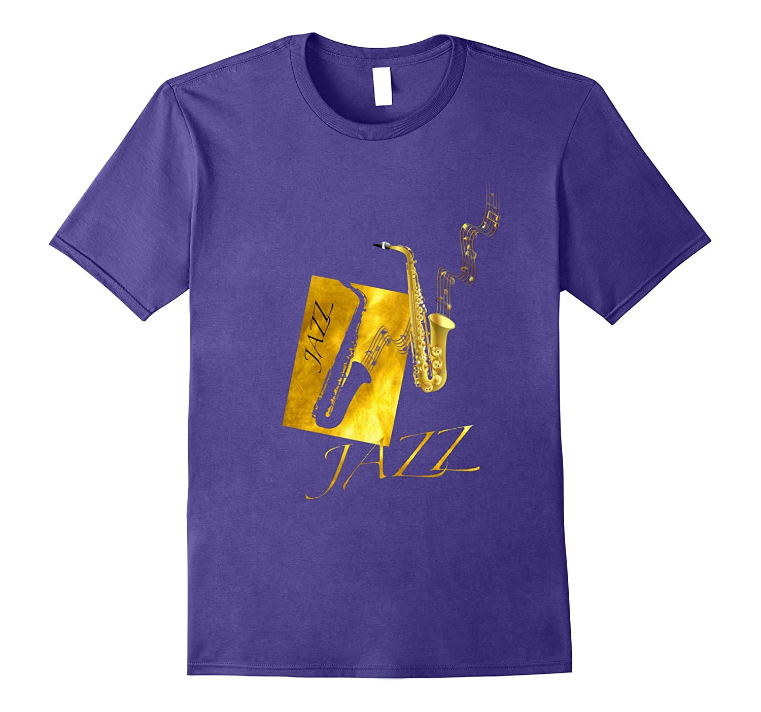 Jazz Saxophone Tshirt Gold-Art