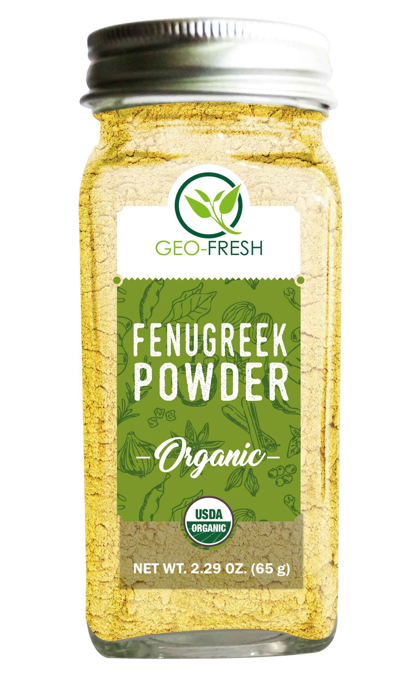 Geo-Fresh Organic Fenugreek Powder 2.29 OZ. (65g)