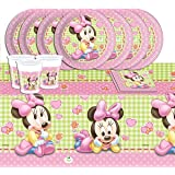 Disney Baby Shower Pink Minnie Mouse Complete Party Supplies Kit For 16