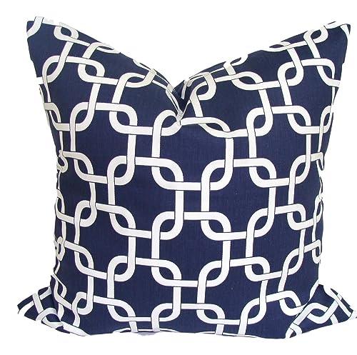 Navy Blue Cabin Throw Pillow Cover  Blue /& Red Throw Pillow Cover  Navy Blue Pillow Cover  Pillows Covers Blue  Tartan Pillow  019