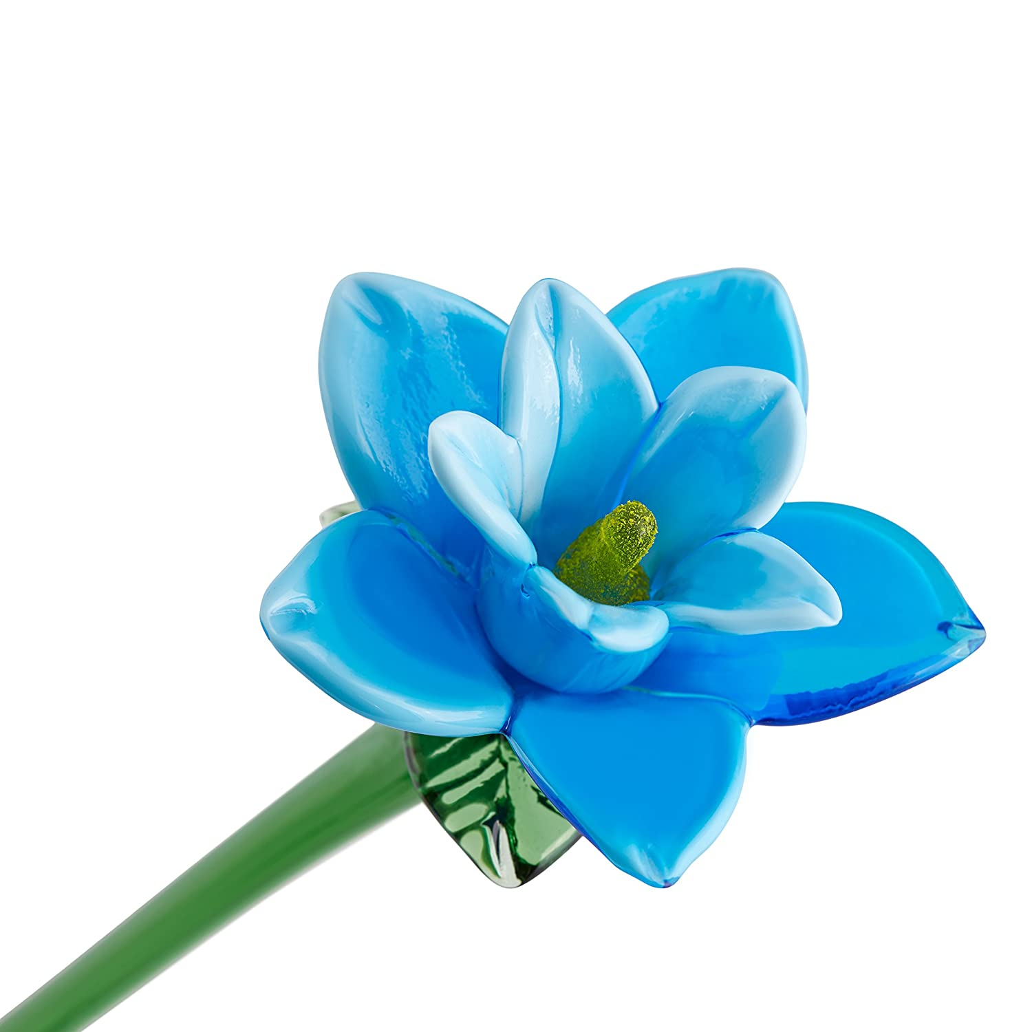 Amazon Com Light Blue Glass Tiger Lily Flower One Of A Kind