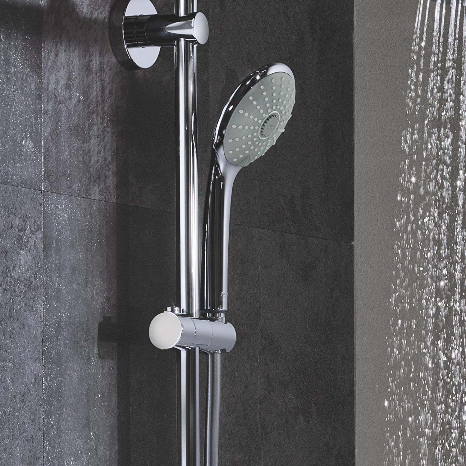 GROHE 26128001 Euphoria 2.5 Gpm Shower System with Thermostat for Wall Mount, Starlight Chrome - - Amazon.com