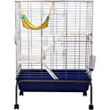 PawHut Rabbit Guinea Pig Chinchilla Hutch House Run Cage Box 80(L) X 108(H) X 48(W)cm