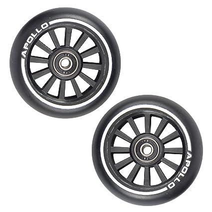 Ruedas para Apollo Stunt Scooter - dos ruedas profesionales de 100mm con núcleo de nylon - 2x rodamientos de bolas Abec 9 rueda para patinete ruedas ...