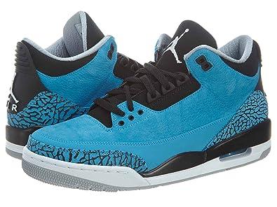 on sale de937 1816d Nike Mens Air Jordan 3 Retro Dark Powder Blue White-Black-Wolf Grey