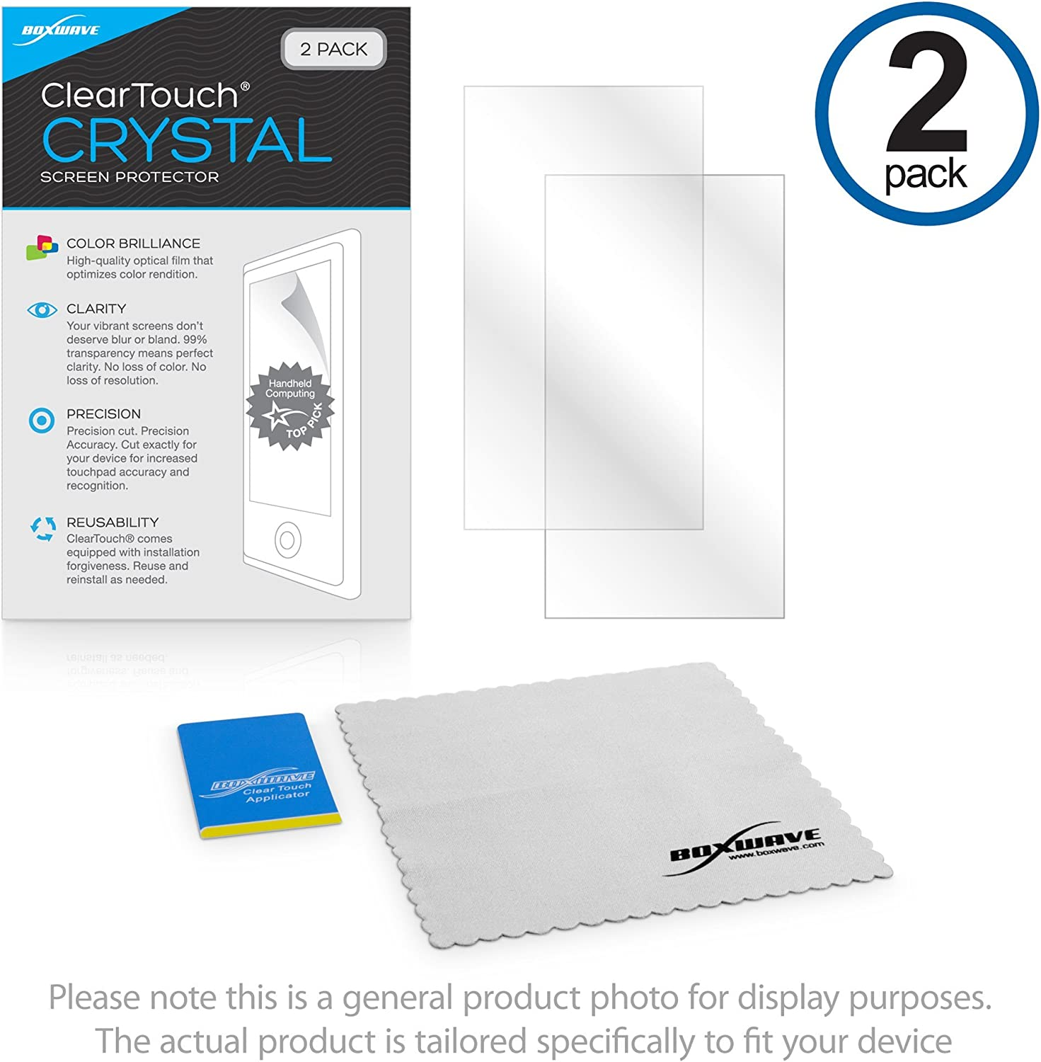 Dell Latitude 7212 Rugged Extreme Tablet Screen Protector, BoxWave¨ [ClearTouch Crystal (2-Pack)] HD Film Skin - Shields from Scratches for Dell Latitude Rugged 12
