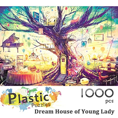 Ingooood - Jigsaw Puzzle 1000 Pieces- Dream House of Young Lady- IG-0509- Entertainment Recyclable Materials Plastic Puzzles Toys: Toys & Games