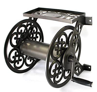 Liberty Garden Products 708 Steel Decorative Wall Mount Garden Hose Reel