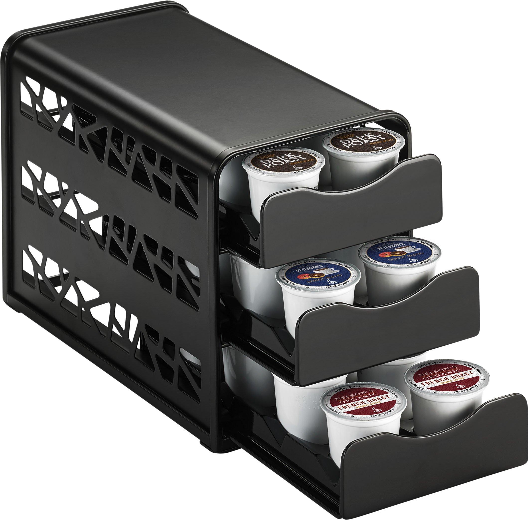 Java Concepts 17402-A Keurig Cabinet Storage for K-Cup, Black. 24 pods