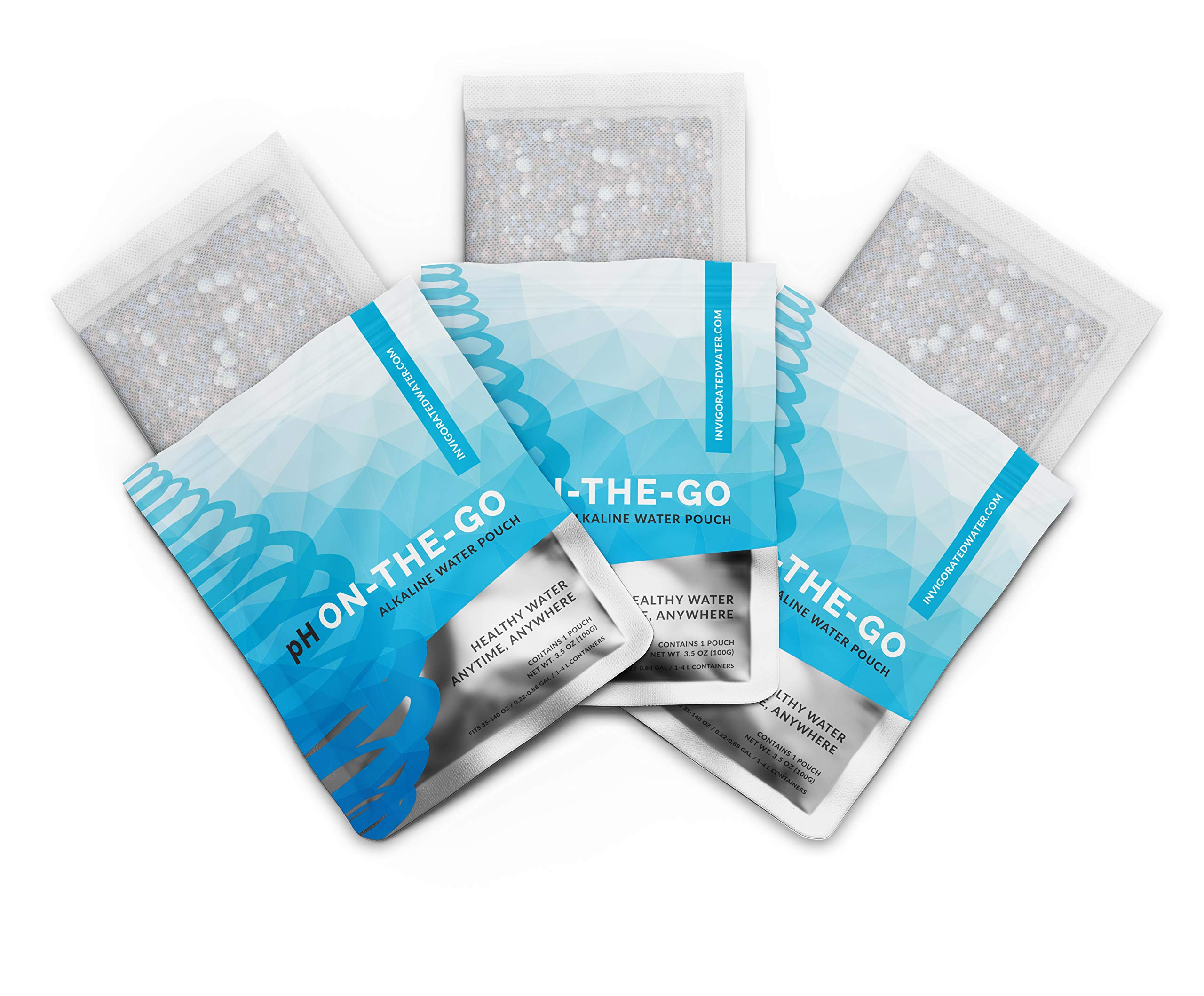 pH ON-THE-GO Alkaline Water Filter Pouch- Portable Alkaline Water Filtration System For Your Bottle, Pitcher, Jug, Container - High pH Ionized Water - Long-Life 105 Gallon/400 Litre (3-pack) by Invigorated Water (Image #3)