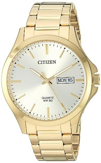 Amazon.com: Citizen Mens Quartz Stainless-Steel Strap, Gold, 19.3 Casual Watch (Model: BF2003-84P: Citizen: Watches
