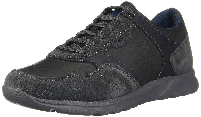 Geox Scarpe da Uomo Sneaker U Damian A in Pelle Grigia