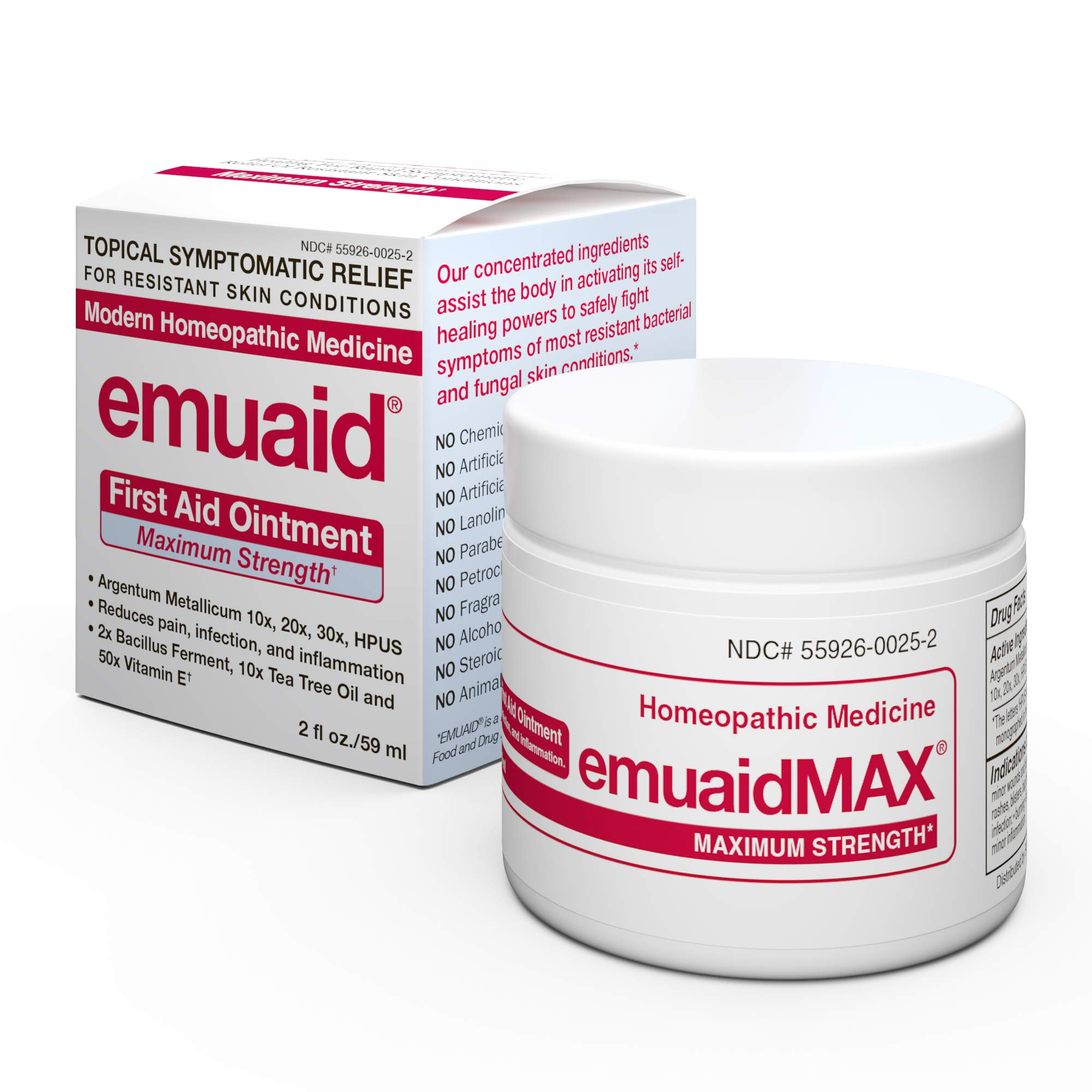 EmuaidMAX® Ointment - Antifungal, Eczema Cream. Maximum Strength Treatment. Use Max Strength for Athletes Foot, Psoriasis, Jock Itch, Anti Itch, Ringworm, Rash, Shingles and Skin Yeast Infection. by Emuaid