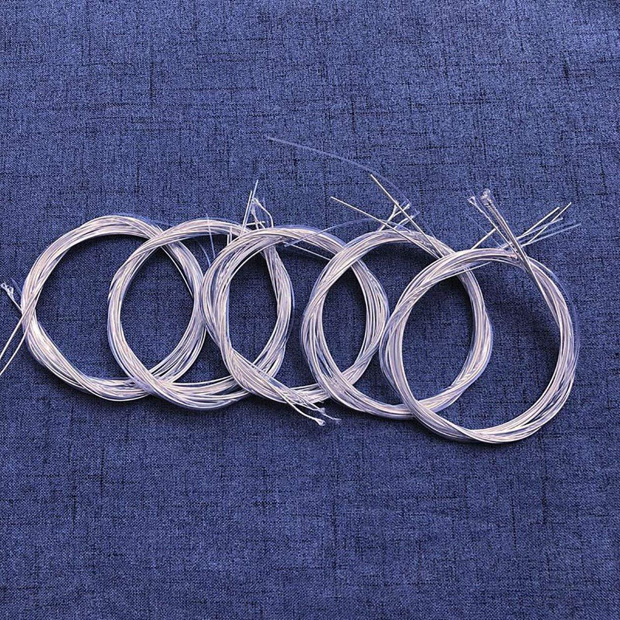 Colore: Bianco HONGIRT Corde per Chitarra Classica 6 Pezzi Set Corde in Nylon Trasparente Accessori per Strumenti Musicali in Rame Placcato Argento