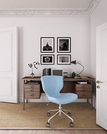 Outstanding Elle Decor Madeline Hourglass Task Chair In Pastel Blue Ncnpc Chair Design For Home Ncnpcorg