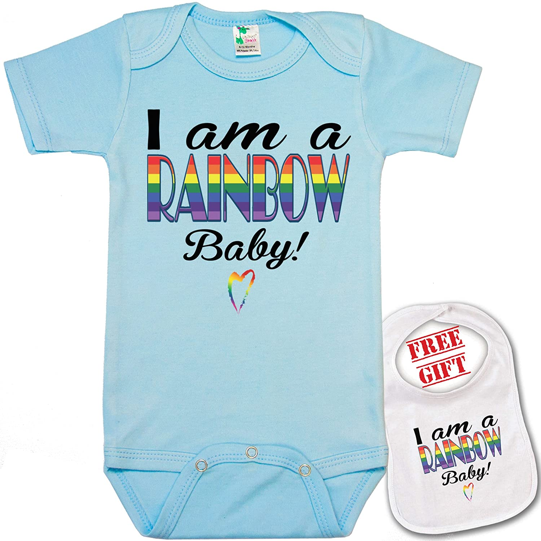 Amazon I am a Rainbow Baby unique Baby bodysuit onesie by Igloo