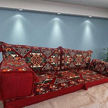 Sofa De Piso Asiento En El Suelo Sofa De Esquina Cojines De - Cojines-arabes