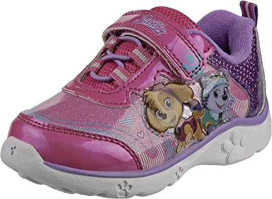 paw patrol pink light up shoes