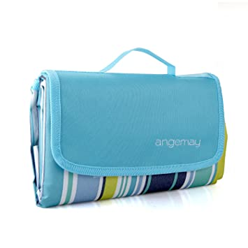 Amazon Com Angemay Outdoor Picnic Blanket Extra Large Sand Proof